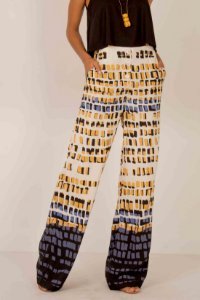 Calça Pantalona Geométrica
