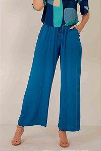 Calça Pantalona Elástico Lacinho