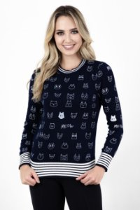 Suéter Tricot Gatinhos