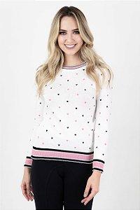 Suéter Tricot Corações