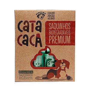 Kit 20 Rolinhos de Saquinhos Biodegradáveis Cata Caca Refil