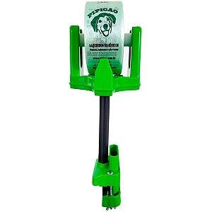 Suporte de Mesa Verde Com Prendedor e 1075 Saquinhos Higiênicos Cata Caca Pipicão