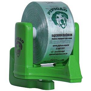 Suporte de Parede Verde Com 1075 Saquinhos Higiênicos Cata Caca Pipicão