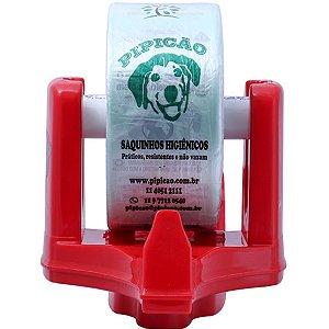 Suporte de Parede Vermelho Com 1075 Saquinhos Higiênicos Cata Caca Pipicão