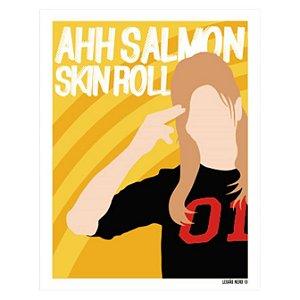 Placa Decorativa Salmon Skin Roll
