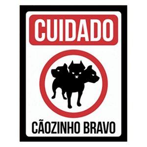 Placa Cãozinho Bravo Fofo