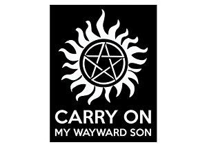 Placa Carry On Supernatural