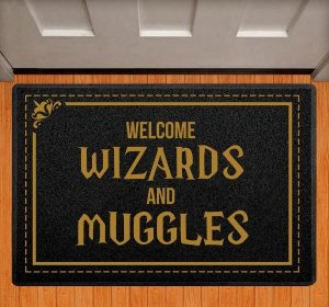 Capacho Welcome Wizards and Muggles