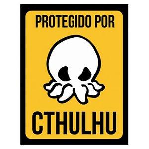 Placa Protegido por Cthulhu