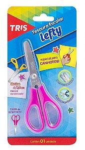 Tesoura Escolar 13cm TRIS Lefty Canhotos