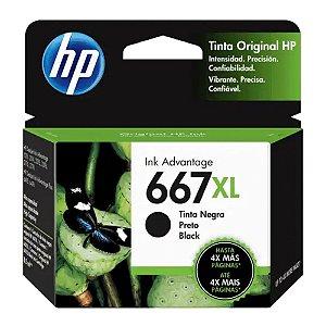 Cartucho de Tinta HP 667 XL Preto Advantage de Alto Rendimento Original