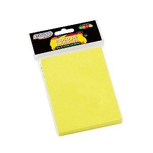 Bloco de Recado 76x102 Amarelo Neon