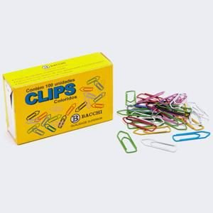 Clips Colorido N. 1/0 (0) - c/ 100 unidades