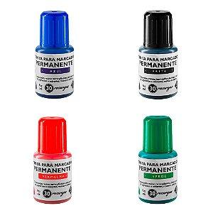 Tinta para Marcador Permanente 20ml BRW - Unidade