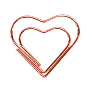 Clips Coração Ouro Rosé Love Molin