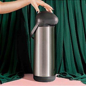 Garrafa Térmica de Pressão Nobile 1,9 Litros Inox