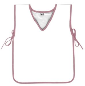Avental Escolar PVC Branco com Rosa DAC