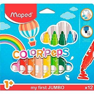 Canetinha Hidrográfica Color'Peps Jumbo Caixa com 12 Cores