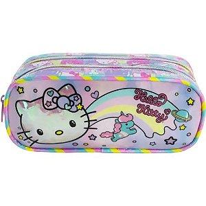 Estojo Duplo Hello Kitty - Rainbow - 8815
