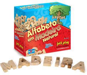 Alfabeto Móvel em Madeira (40 peças) 5cm altura - Jott Play
