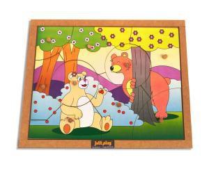 Quebra-Cabeça com pinos (9 peças) modelo Ursos - Jott Play