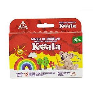 Massa de Modelar 120g 12 Cores Koala