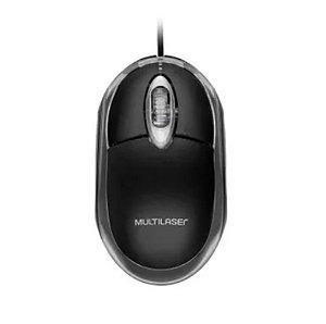 Mouse Multilaser Òptico Classic Preto 1200 DPI USB Preto - MO179
