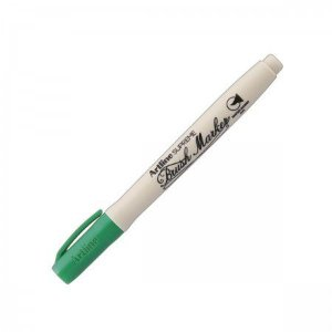 CANETA BRUSH EPF-F ARTLINE VERDE