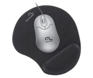 Mouse Pad Multilaser Gel Preto - AC024