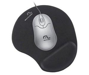 Mouse Pad Multilaser Gel Preto - AC024