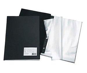 Pasta Catálogo Com 100 Plasticos Finos 192 Preta Dac Unidade