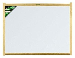 Quadro Branco Moldura Madeira 70X50cm Luxo - Souza