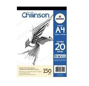 Papel Desenho A4 Branco 150g com 20 Folhas
