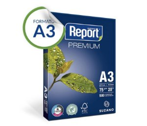 Papel A3 Report® Premium 75 g/m² Pacote 500 Folhas