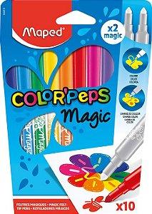 Caneta Hidrocor 10 Cores Peps Magic