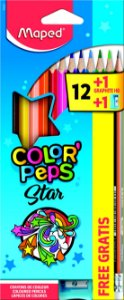 Lápis de Cor 12 Cores + 1 Lápis + 1 Apontador