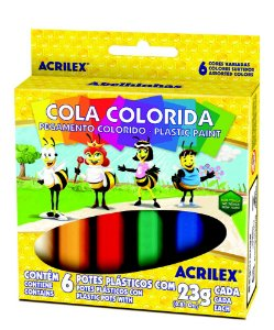 Cola Colorida 23g c/6 Cores Acrilex
