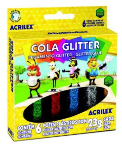 Cola Gliter 23g c/6 Cores Acrilex