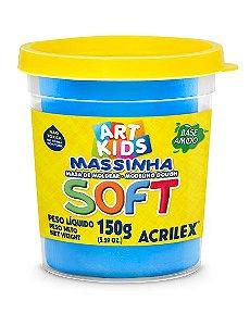 Massa de Modelar Soft 150g Azul