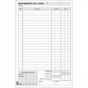 TALÃO MOVIMENTO DE CAIXA PEQUENO 1/18 - 100 FOLHAS