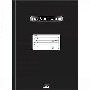 LIVRO INSPEÇÃO DO TRABALHO CAPA DURA - 100 FOLHAS