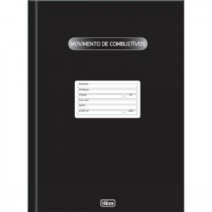 LIVRO DE MOVIMENTAÇÃO DE COMBUSTÍVEIS CAPA DURA - 100 FOLHAS