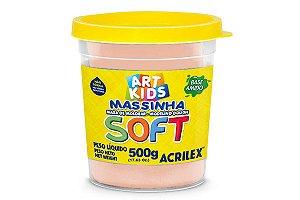 Massa de Modelar Soft 500g Amarelo Pele
