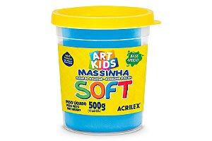 Massa de Modelar Soft 500g Azul