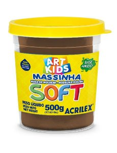 Massa de Modelar Soft 500g Chocolate
