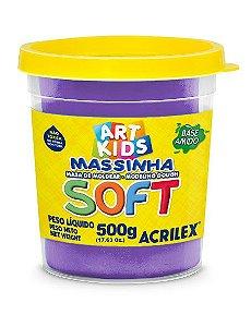 Massa de Modelar Soft 500g Violeta