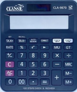 Calculadora de Mesa 12 Dígitos CLA9870