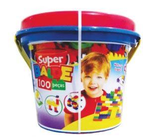 Super Balde Menino 100 Peças