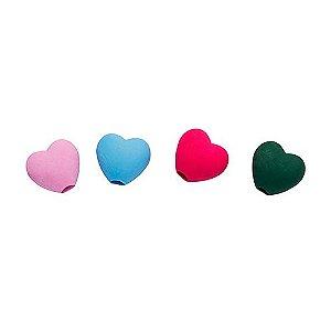 Borracha Ponteira Coração Love Heart - Unidade