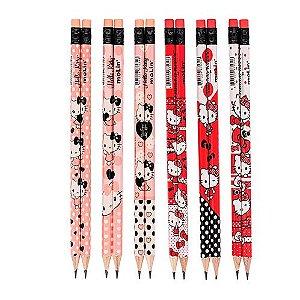 Lápis Preto HB Nº 2 Com Borracha Hello Kitty - Unidade